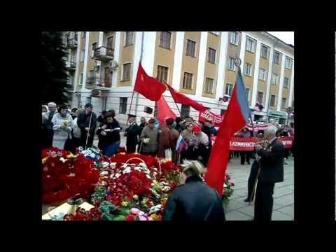 Возложение цветов коммунистами города Киров 9 мая 2012