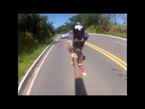 Downhill Skate Speed - Renan lage no drop Mata Verde - Go Longboard ES GOPRO - Rubim Downhill
