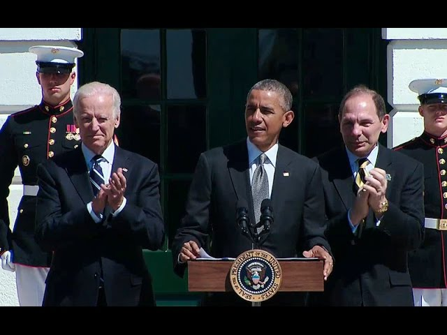 President Obama Speaks at the Wounded Warrior Project Soldier Ride Event