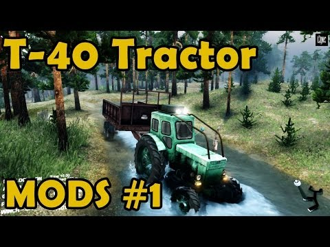 Spin Tires Mod Review #1 - T-40 Tractor