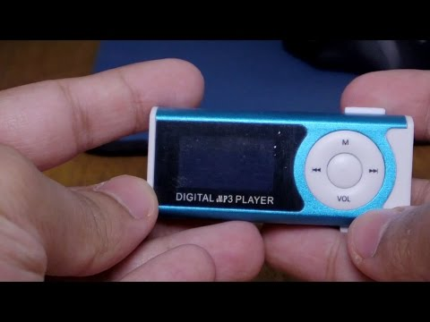 $5 Digital MP3 Player 16gb Blue Unboxing and test!!