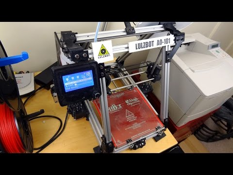 XRobots - Adding LCD & SD Support to a RepRap Lulzbot AO-101 3D Printer