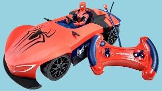 Amazing Spiderman Super Car RC Remote Control Surprise Unboxing & Playtime | Fun Kids Toy Review