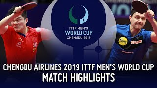 Fan Zhendong vs Timo Boll | 2019 ITTF Men's World Cup Highlights (1/4)
