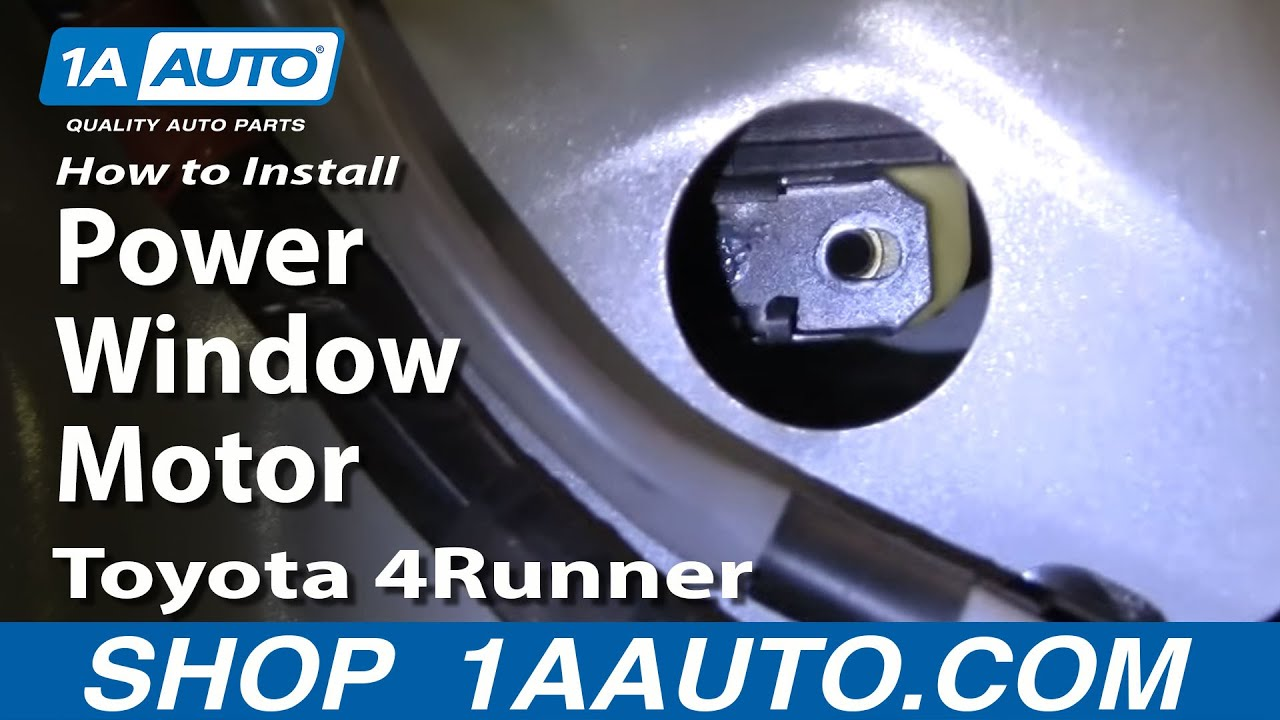 How To Install Replace Power Window Motor Toyota 4runner 96 02 Youtube: car window motor replacement