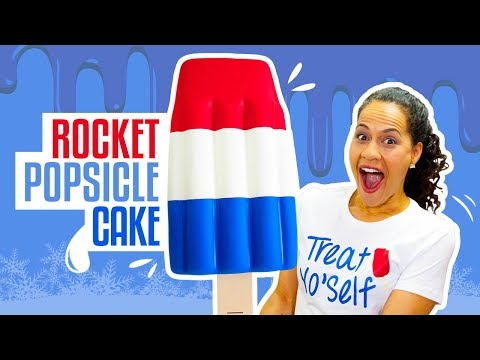 How To Make A GIANT Rocket Popsicle CAKE for Independence Day | Yolanda Gampp | How To Cake It