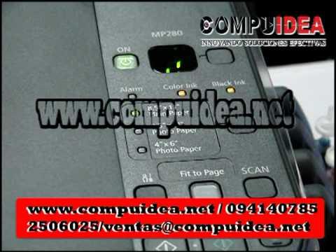 Reseteo Canon Mp280 /Mp250 con Sistema Compuidea de Tinta Continua