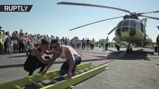 Wonderwoman! Watch Russian lady move HELICOPTER