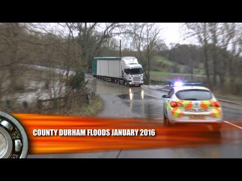 UK Floods County Durham January 2016