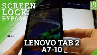 Hard Reset LENOVO Tab 2 A7-10 - reset Password and Pattern