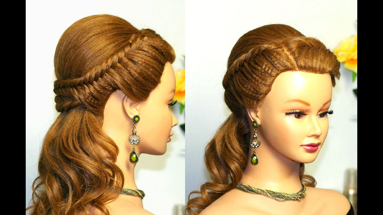 Easy Styles For Long Hair: Easy Prom Hairstyle For Long Hair With Fishtail Braids