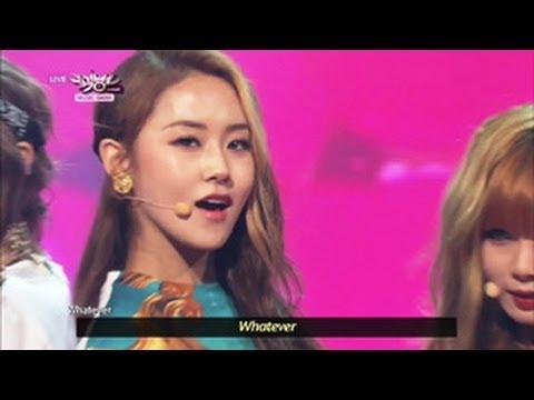 4 Miunte - Whatever (2013.05.11) [Music Bank w/ Eng Lyrics]