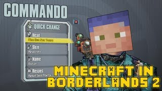 Borderlands 2 MINECRAFT Easter Egg!! [Custom Skins and Heads]