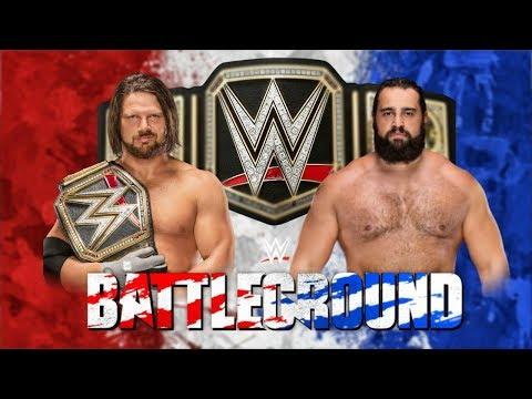 wwe battleground 2018 dream Match card    Wrestling feud #1