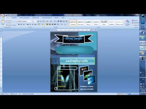 crea portadas con microsoft word bien chidas 2012