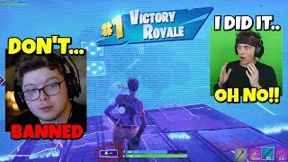 i did what Ghost Aydan did that got him BANNED in fortnite... (not good)