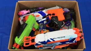 Box of Toys NERF Guns Toy Guns Pistols Kids Fun