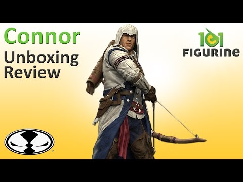 Connor Action Figure (Unboxing & Review) - Assassin's Creed 3 McFarlane Color Tops (101figurine)