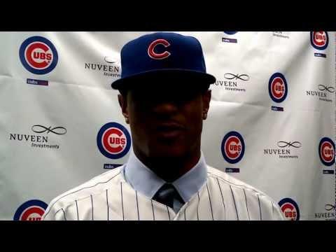 Chicago Cubs introduce Edwin Jackson 1-2-13
