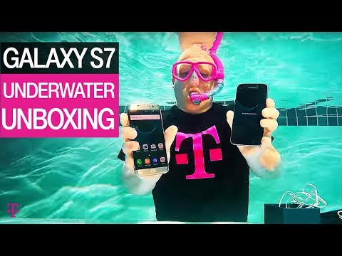 T-Mobile | Underwater Unboxing of the new Samsung Galaxy S7 | Product Preview