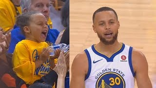 Stephen Curry Shocks His Daughter Riley Curry With Unbelievable Shots! Warriors vs Rockets Game 3