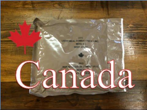 Canadian Light Meal Combat Pack (LMC) ~Menu 1 Beef Jerky~