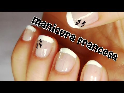 Manicura francesa para uñas cortas #2