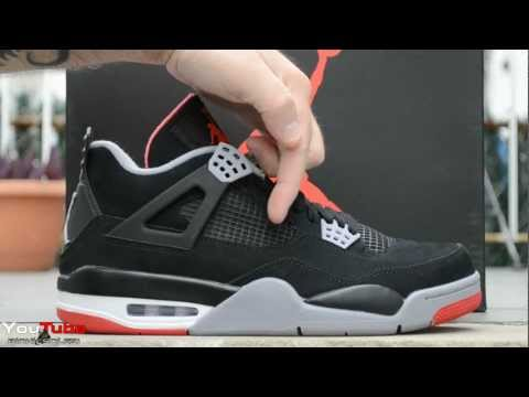 2012 Air Jordan Bred IV Retro 4 Black Cements Early Review