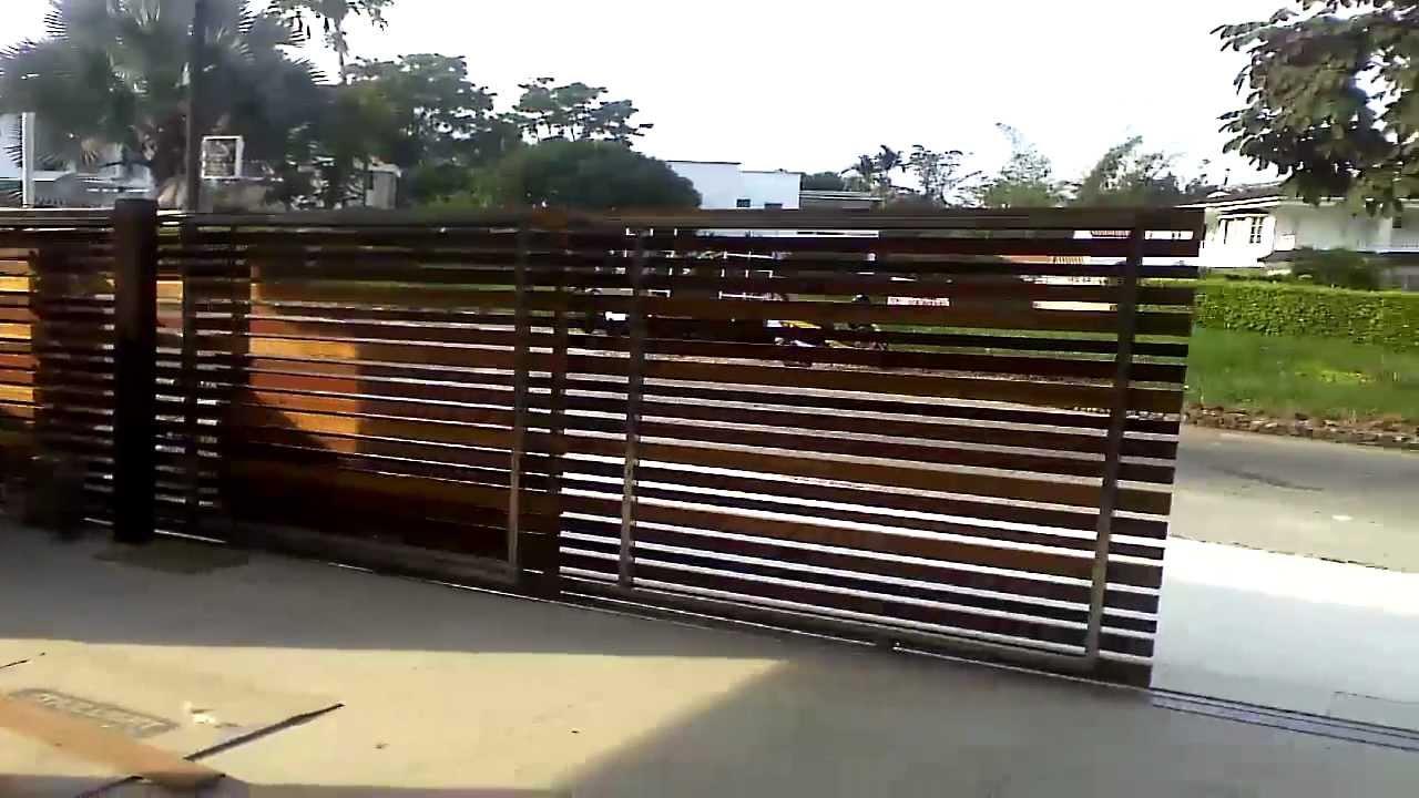 D 39 acero puerta automatica de corredera a dos hojas en - Puertas de dos hojas ...