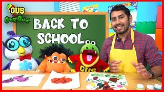 First Day of School with Gus! Back to School Pretend Play Painting