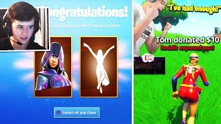 "BUGHA *REVEALS* SAMSUNG ""GLOW"" SKIN + ""LEVITATE"" EMOTE! NICK EH 30 *LOSES IT* after THIS! (Fortnite)"