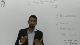 Actuarial Science Exam: CT-1 Financial Mathematics Orientation