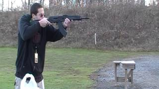 Saiga 7.62x39 rifle shooting test