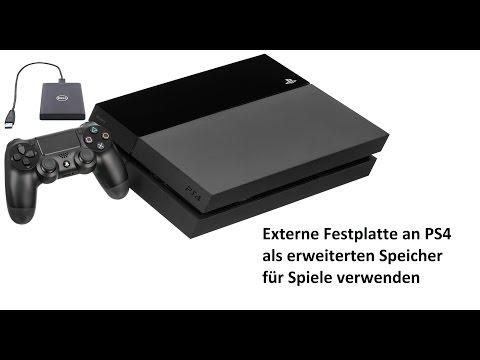 PS4 Spiele auf eine externe Festplatte installieren/verschieben    Tutorial