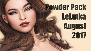 Powder Pack LeLutka August 2017 - Unboxing Video - Second Life Subscription Box