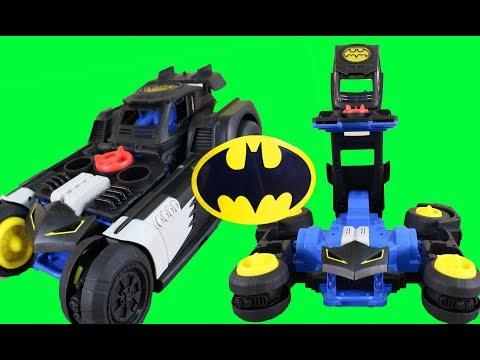 Imaginext Transforming Batmobile R/C + Batman Robot Vs Joker ! Superhero Toys