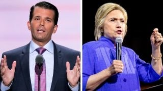 Donald Trump Jr blasts Clinton in RNC speech