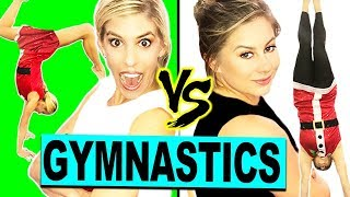 Ultimate Holiday Gymnastics Challenge with Shawn Johnson! (Gymnast vs Olympian)