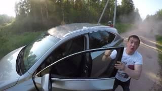 нетрезвый водитель напал на эндуриста за что и был ткнут мордой в землю(от первого лица)