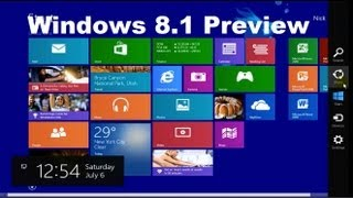 Windows 8.1 Preview Tricks & Tutorial Review - Beginners Video Guide