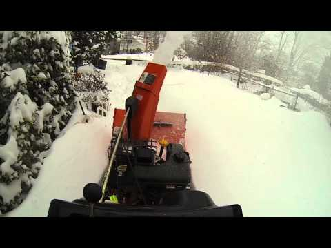 Snowmageddon 2014. Part#1. Ariens 11528LE Snowblower in action. Ossining. NY.