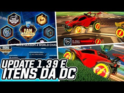 NOVOS ITENS DO FLASH, UPDATE 1.39, NOVO CAMP E RLCS - Rocket League: News