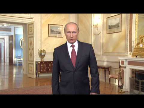 Vladimir Putin speaking English for the International Exhibitions Bureau