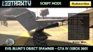 Evil Blunt's Object Spawner Menu - GTA IV (Xbox 360)