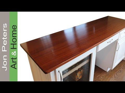 how to build wood kitchen countertops