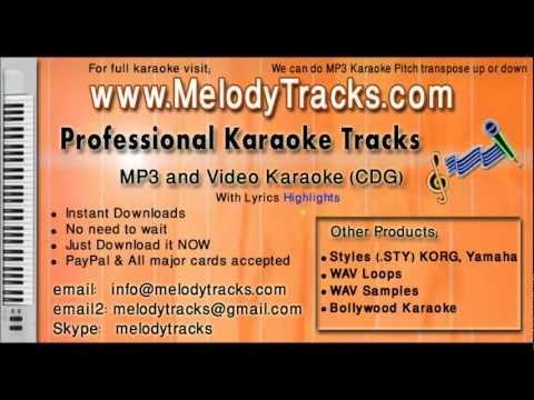 Mujhe darde dil ka pata na tha - Rafi KarAoke - www.MelodyTracks...