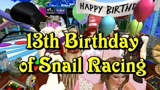 Giant snail race 495 17 Nov 11 13th Birthday
