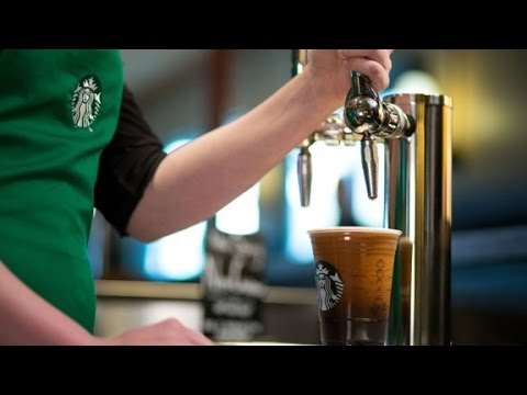 This Starbucks coffee pours like a beer