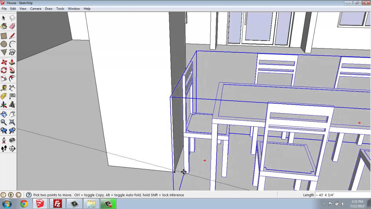 Sketchup 30 small house moving objects into place for Moving items into place