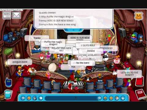 Club Penguin Band G Billy, Franky, Petey K, Stompin Bob 09
